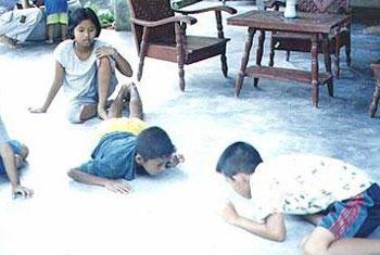 เป่ากบ: การละเล่นของเด็ก